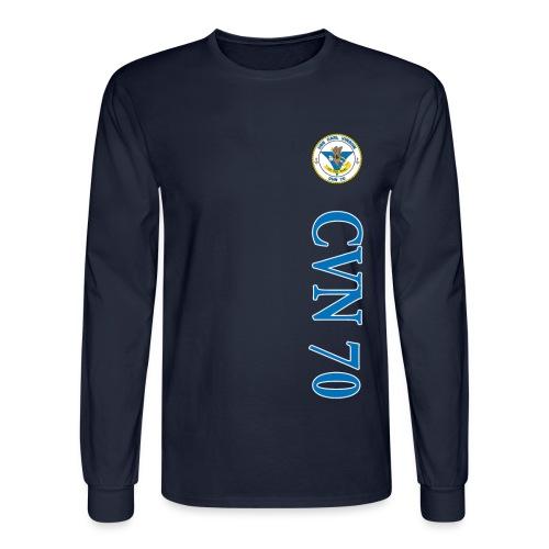 USS CARL VINSON CVN-70 LONG SLEEVE VERT STRIPE SHIRT - Men's Long Sleeve T-Shirt