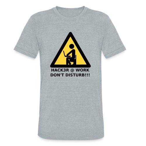 Hacker at work - Unisex Tri-Blend T-Shirt