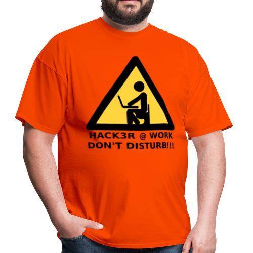 Hacker at work - Men's T-Shirt