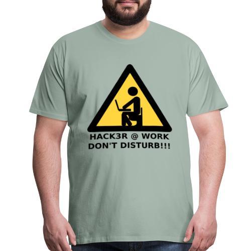 Hacker at work - Men's Premium T-Shirt