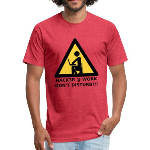 Hacker at work - Fitted Cotton/Poly T-Shirt by Next Level