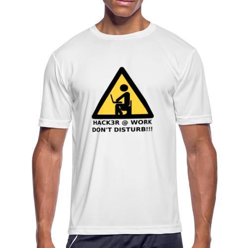 Hacker at work - Men's Moisture Wicking Performance T-Shirt