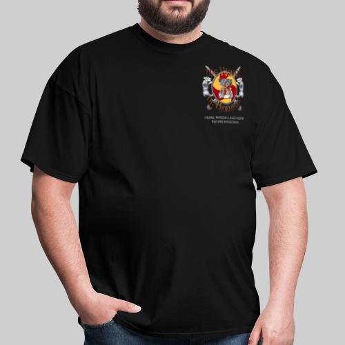 Vikings of Bjornstad/Real Vikings Don't Wear Horns - Black T-Shirt - Men's T-Shirt