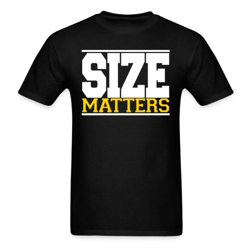SIZE Matter gym fitness t-shirt - Men's T-Shirt
