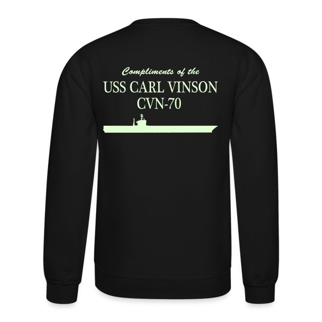 USS Carl Vinson - Got Freedom Night Ops Edition Sweatshirt (glow in the dark)