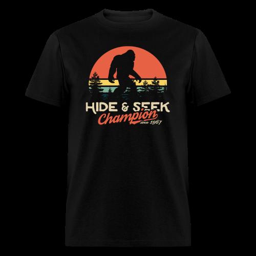 Xeire Hide and Seek Champion since 1967 Bigfoot - Men's T-Shirt
