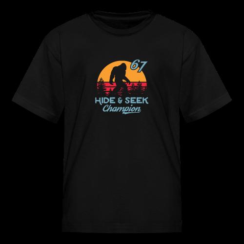Xeire Bigfoot Hide n Seek Champion '67 - Kids' T-Shirt