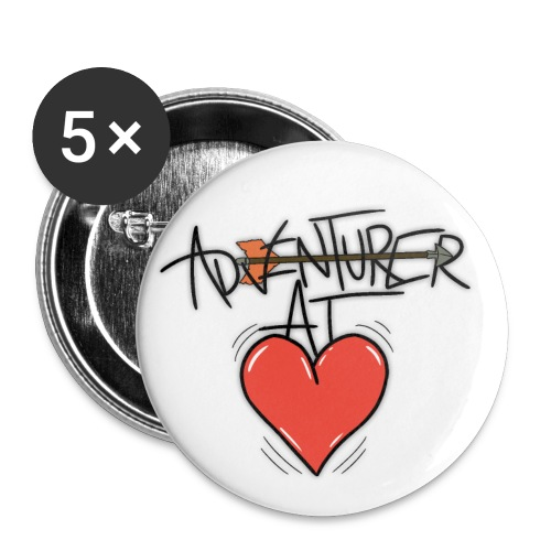 Adventurer At Heart Buttons - Large Buttons