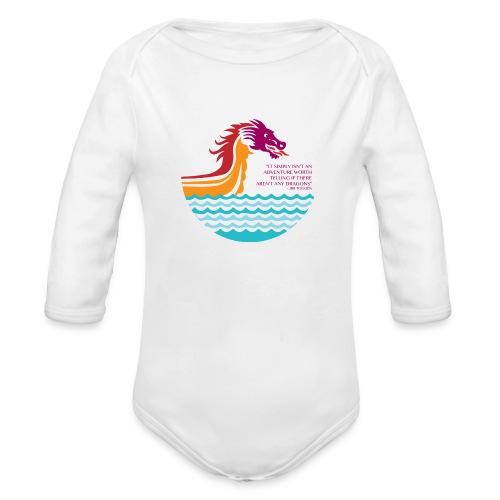 Dragon Adventure   - Organic Long Sleeve Baby Bodysuit