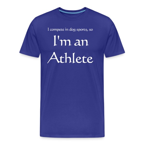 I'm an athlete - Men's Premium T-Shirt