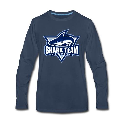 BMD Shark Team Long Sleeve Navy - Men's Premium Long Sleeve T-Shirt