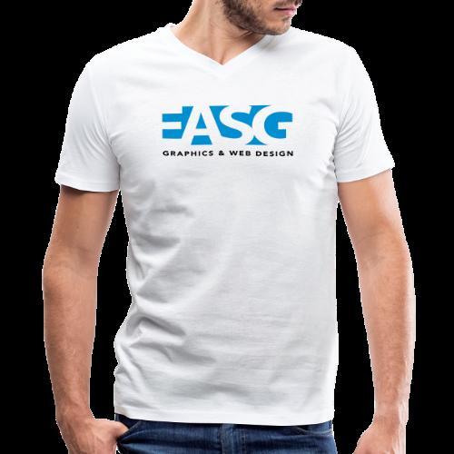 King of Design V-Neck (WHITE) - Men's V-Neck T-Shirt by Canvas