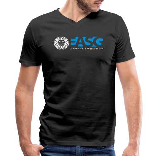 Men's V-Neck T-Shirt v.2 (BLACK) - Men's V-Neck T-Shirt by Canvas
