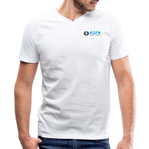Men's V-Neck T-Shirt v.1 (WHITE) - Men's V-Neck T-Shirt by Canvas