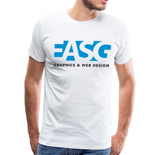 King of Design (WHITE) - Men's Premium T-Shirt