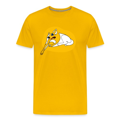 Big Yellow Dog Too - Men's Premium T-Shirt