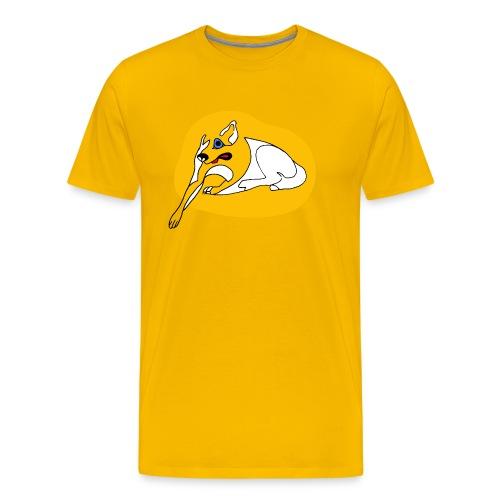 Big Yellow Dog Too - Men's Premium T-Shirt