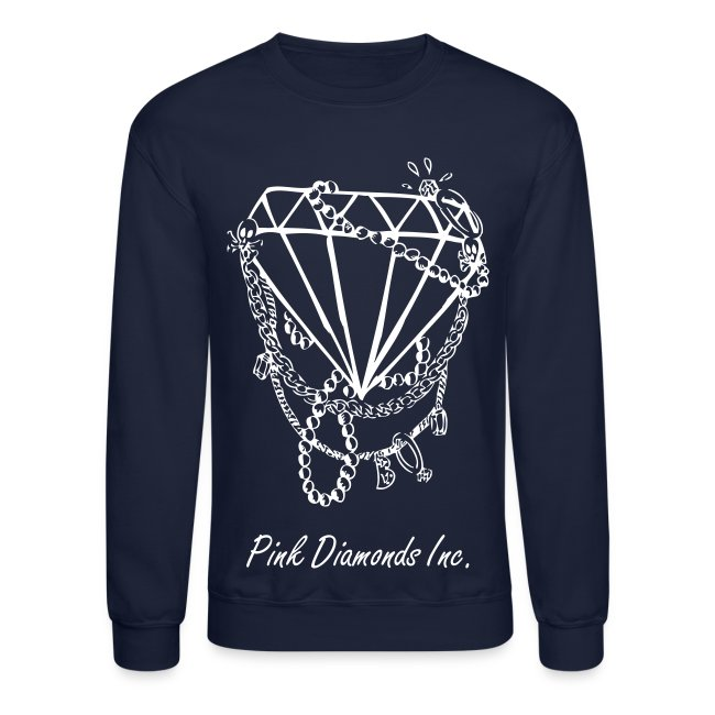 Navy Blue Diamond CrewNeck