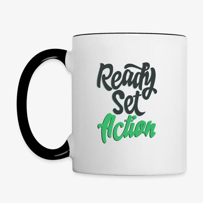 Ready. Set. Action! Coffee Mug