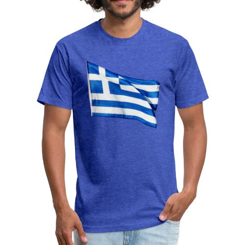 Greece - Fitted Cotton/Poly T-Shirt by Next Level