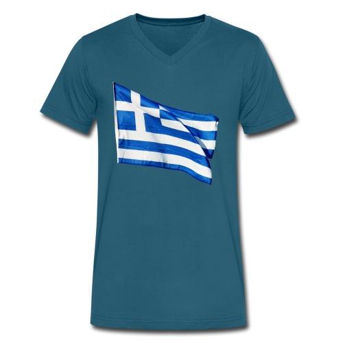 Greece - Men's V-Neck T-Shirt by Canvas