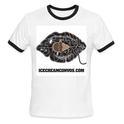 Men's Ice Cream Convos Ringer T-Shirt - Men's Ringer T-Shirt