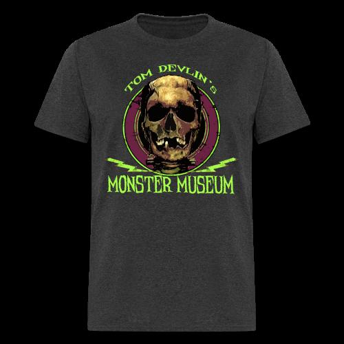 Men's Skull Logo Tee - Heather Black - Men's T-Shirt