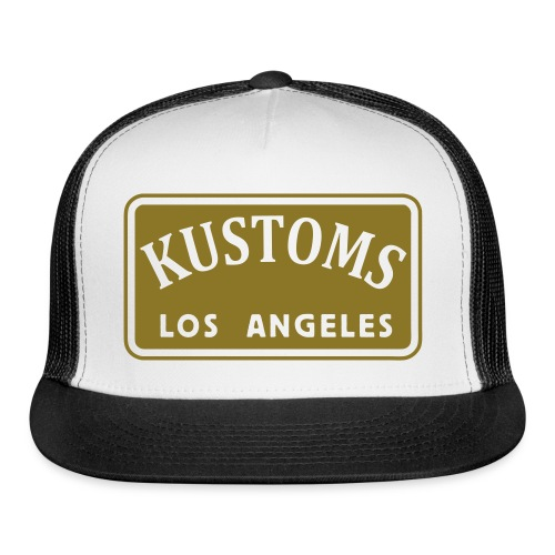 Kustoms Los Angeles Hat in Gold Foil - Trucker Cap