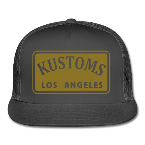 Kustoms Los Angeles Hat in Gold Foil - Trucker Cap