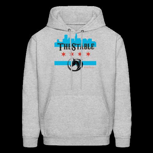 Stars Skyline - black - hoodie - Men's Hoodie