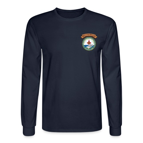 USS GEORGE HW BUSH PLANKOWNER CREST LONG SLEEVE - Men's Long Sleeve T-Shirt