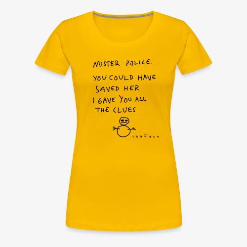 Mr. Police (Black Graphic) Women's T-Shirt - Women's Premium T-Shirt