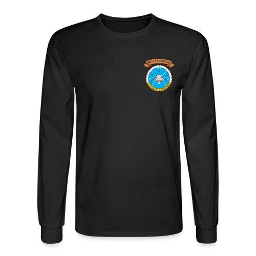 USS DWIGHT D EISENHOWER PLANKOWNER CREST LONG SLEEVE SHIRT - Men's Long Sleeve T-Shirt