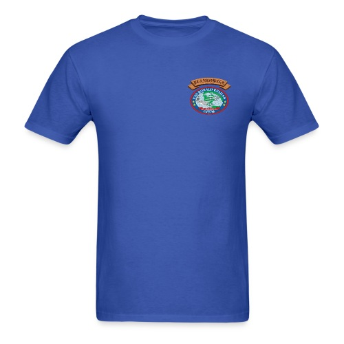 USS RONALD REAGAN PLANKOWNER CREST SHIRT - Men's T-Shirt