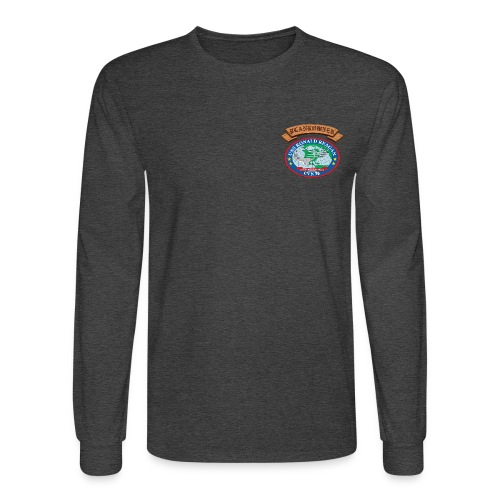 USS RONALD REAGAN PLANKOWNER CREST LONG SLEEVE SHIRT - Men's Long Sleeve T-Shirt