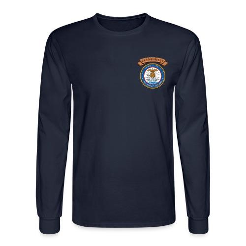 USS JOHN C STENNIS PLANKOWNER CREST LONG SLEEVE SHIRT - Men's Long Sleeve T-Shirt