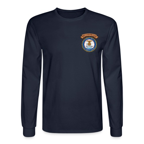 USS JOHN C STENNIS PLANKOWNER CREST LONG SLEEVE SHIRT - Men's Long Sleeve T-Shirt