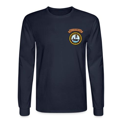USS THEODORE ROOSEVELT PLANKOWNER CREST LONG SLEEVE SHIRT - Men's Long Sleeve T-Shirt