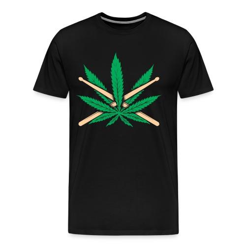 Marijuana Drummer - Men's Premium T-Shirt