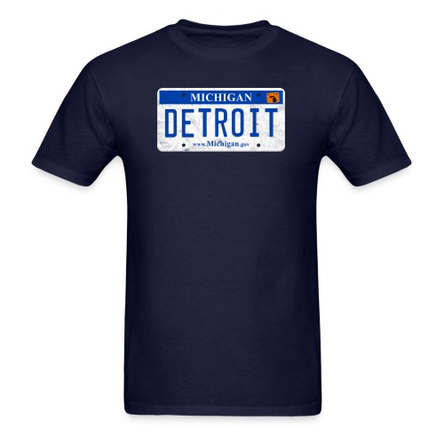 Detroit License Plate - Men's T-Shirt