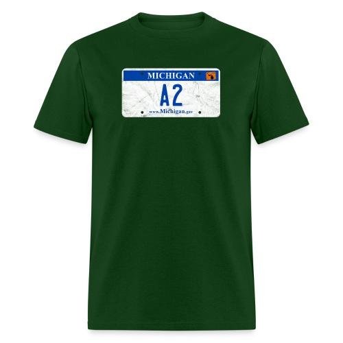 Ann Arbor License Plate - Men's T-Shirt