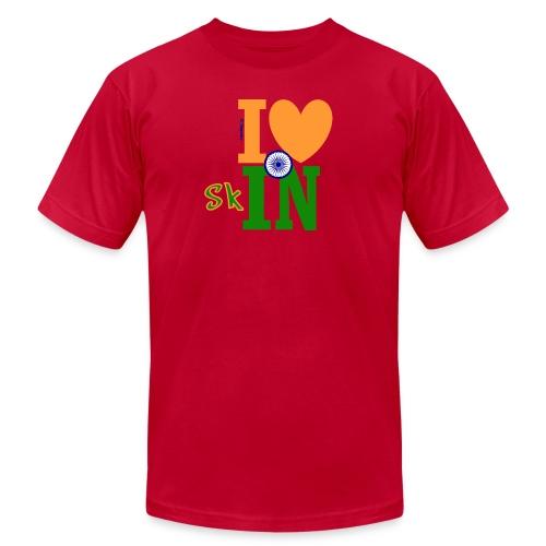 I Love Indian Skin - Men's Fitted - Men's Fine Jersey T-Shirt