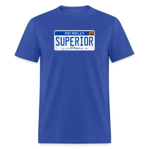 Lake Superior License Plate - Men's T-Shirt