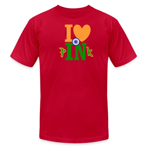 I Love Indian Pink (Graf-Rock) - Fitted Tee - Men's Fine Jersey T-Shirt