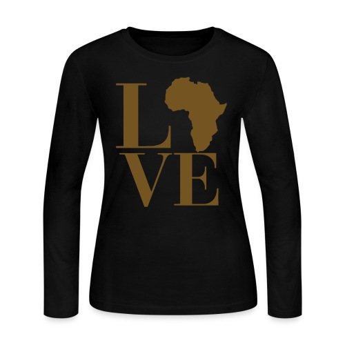 Love Africa long sleeve women's t-shirt - Women's Long Sleeve Jersey T-Shirt