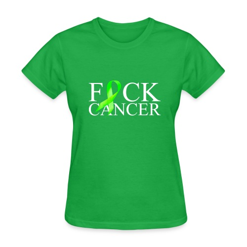 Fck Cancer (green ribbon) women's tshirt - Women's T-Shirt
