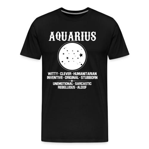 aquarius zodiac sign - Men's Premium T-Shirt