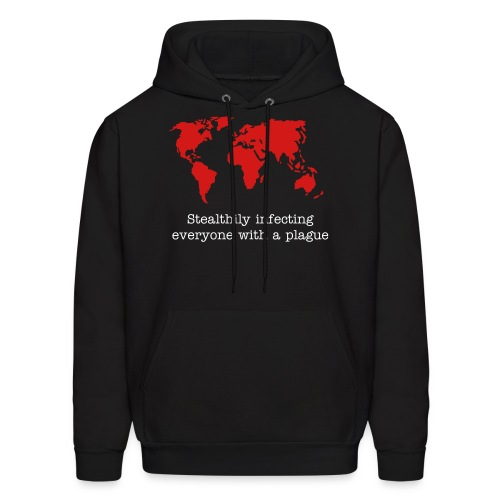 Stealthily infecting everyone with a plague - Men's Hoodie