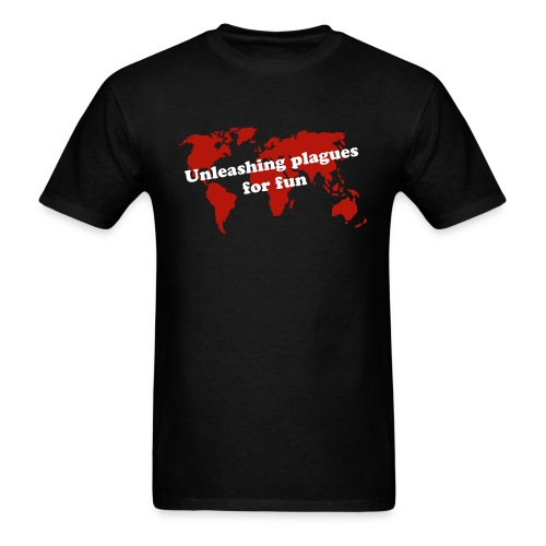 Unleashing plagues for fun - Men's T-Shirt