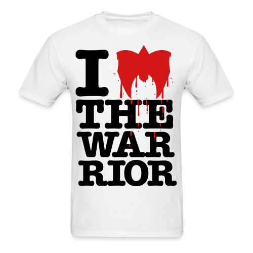 SALE - Ultimate Warrior I Love The Warrior Shirt - Men's T-Shirt